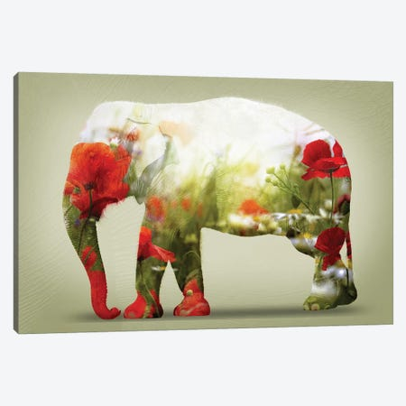 Poppy Canvas Print #ZEP163} by Vin Zzep Canvas Art