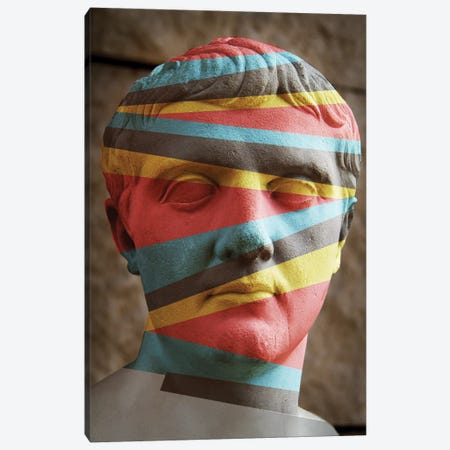 Statue Colours Canvas Print #ZEP173} by Vin Zzep Canvas Art Print