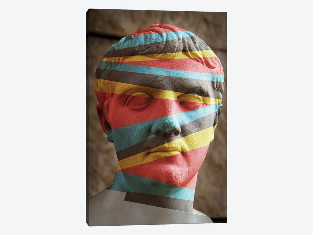 Statue Colours by Vin Zzep 1-piece Canvas Art Print