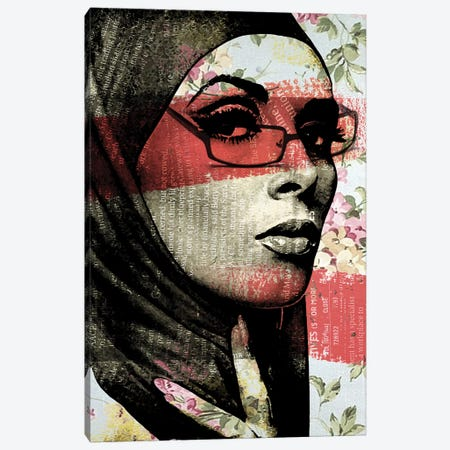 Face II Canvas Print #ZEP17} by Vin Zzep Canvas Artwork