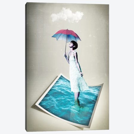 Toe In The Water Canvas Print #ZEP185} by Vin Zzep Art Print