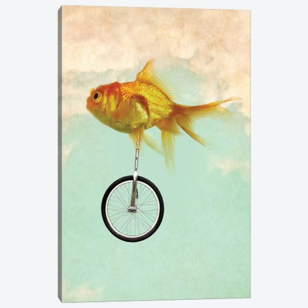 Unicycle Goldfish II Canvas Print #ZEP188} by Vin Zzep Canvas Artwork