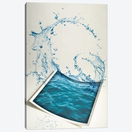 Water Paper Canvas Print #ZEP189} by Vin Zzep Canvas Artwork