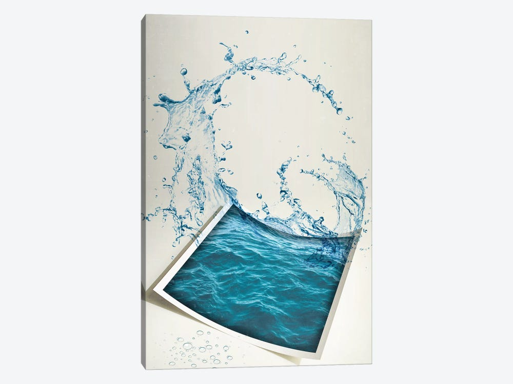 Water Paper by Vin Zzep 1-piece Canvas Artwork