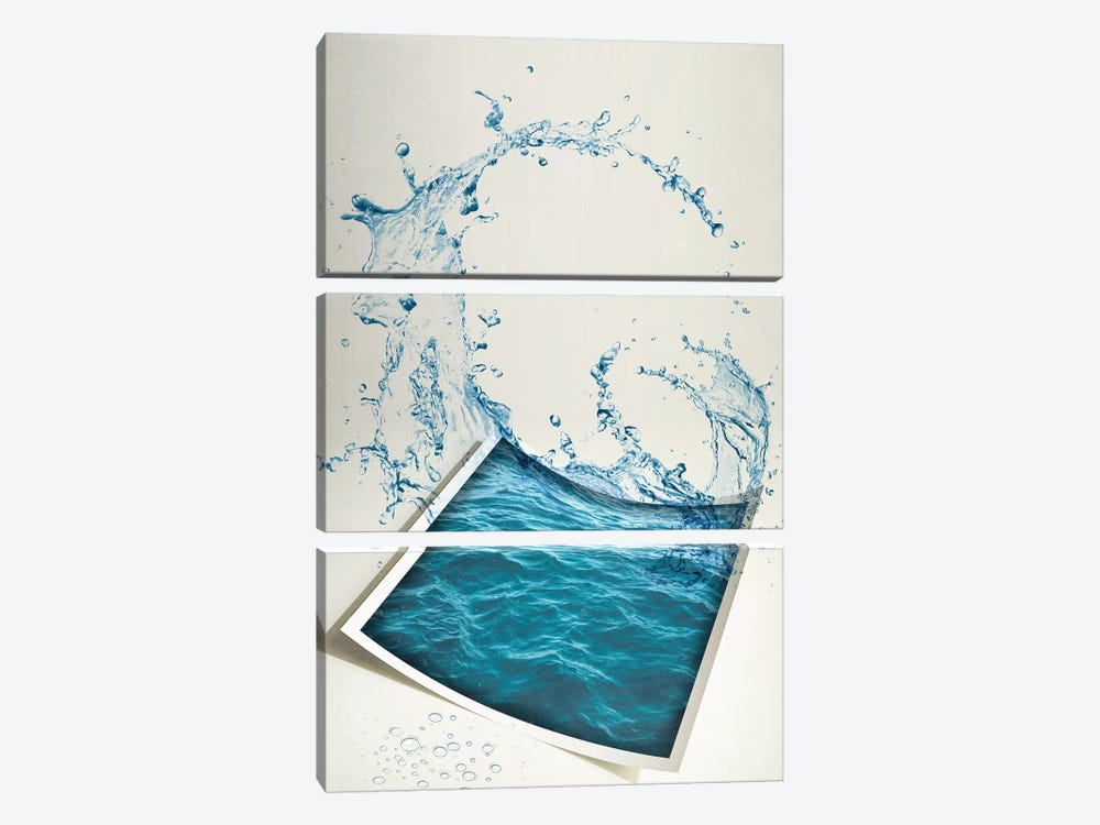 Water Paper by Vin Zzep 3-piece Canvas Wall Art