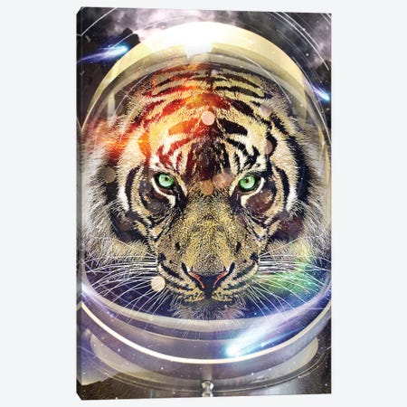 Astro Tiger Canvas Print #ZEP1} by Vin Zzep Canvas Artwork