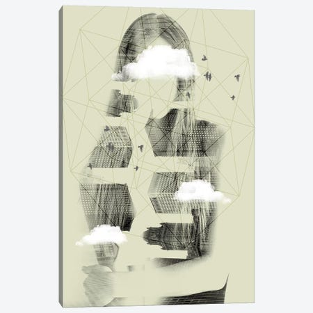 Facet Sky Canvas Print #ZEP20} by Vin Zzep Canvas Art