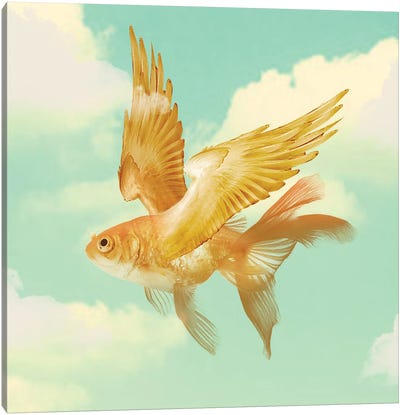 Flying Goldfish Canvas Art Print