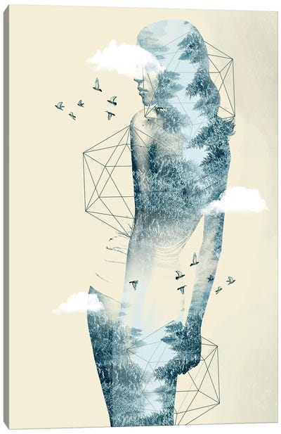 Geo Tree Line Canvas Art Print