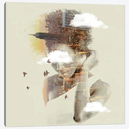New York Canvas Print #ZEP39} by Vin Zzep Art Print