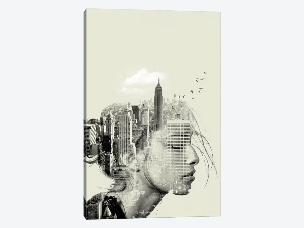 New York Reflection by Vin Zzep 1-piece Art Print