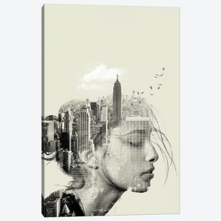 New York Reflection Canvas Print #ZEP40} by Vin Zzep Canvas Art