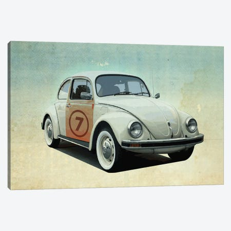 Number 7 VW Sedan Canvas Print #ZEP43} by Vin Zzep Canvas Art