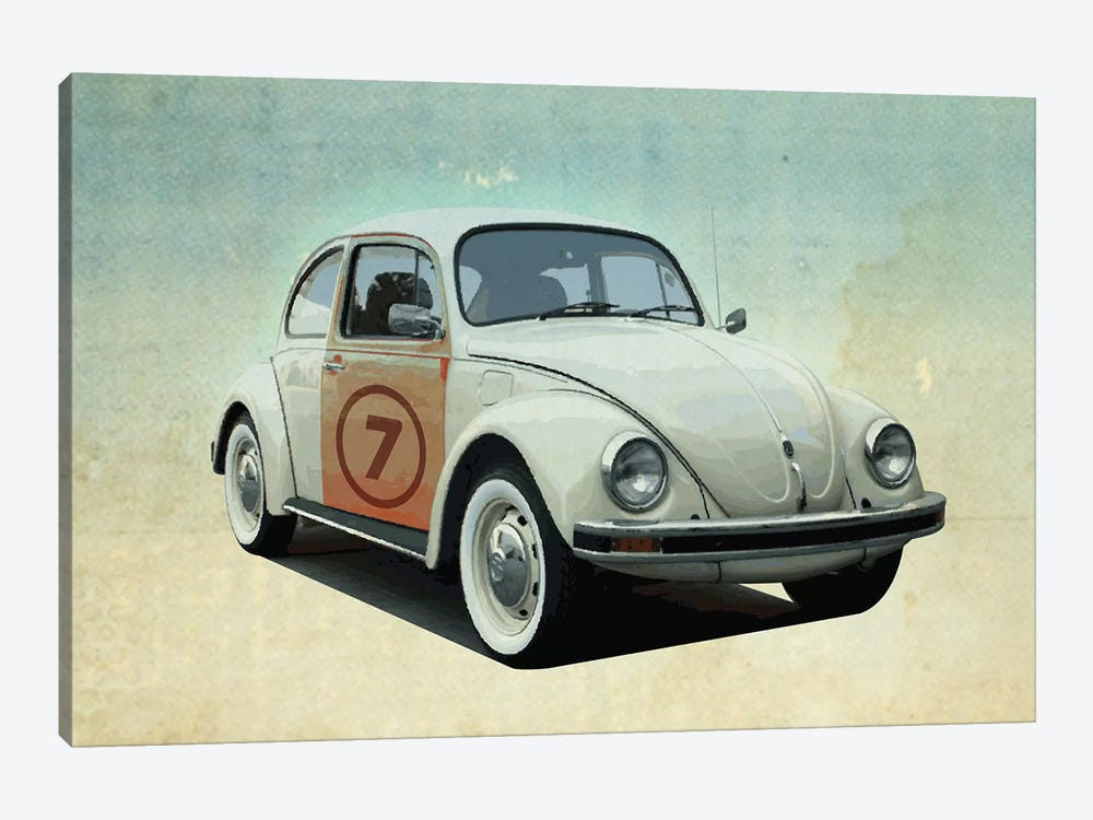 Number 7 VW Sedan 1-piece Canvas Art