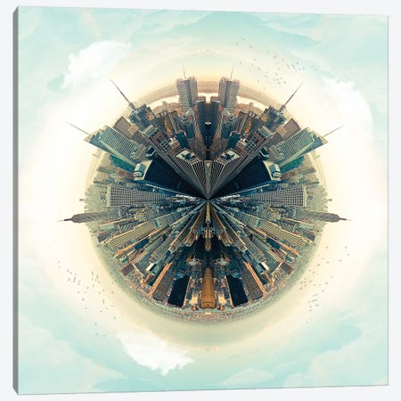 NYC Parallel Cities Canvas Print #ZEP44} by Vin Zzep Canvas Print