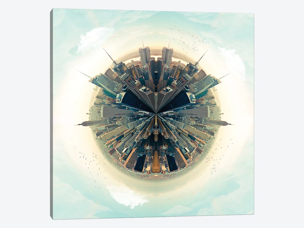 NYC Parallel Cities by Vin Zzep 1-piece Canvas Print