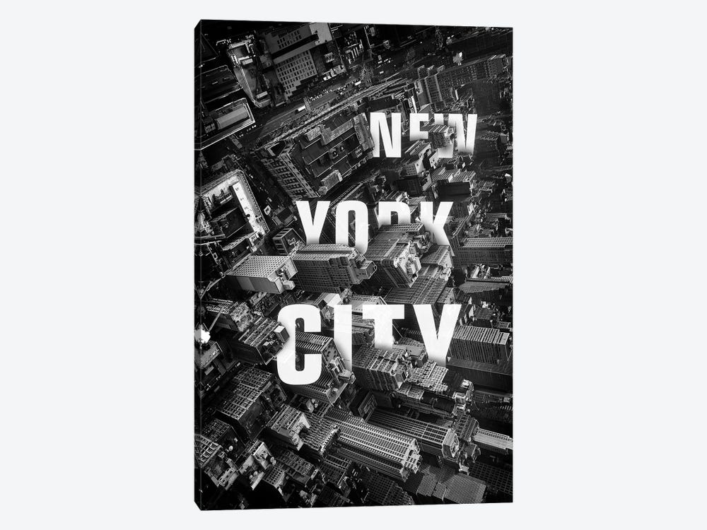 NYC Text by Vin Zzep 1-piece Canvas Art