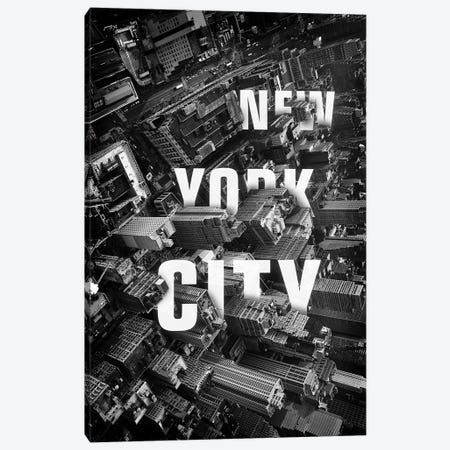 NYC Text Canvas Print #ZEP45} by Vin Zzep Art Print