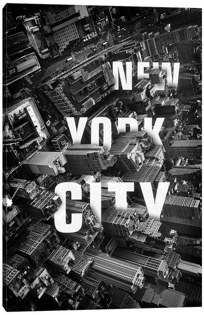 NYC Text Canvas Art Print
