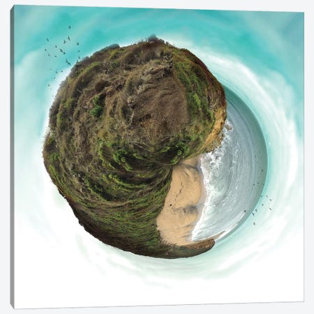 Bells Beach Small World Canvas Print #ZEP4} by Vin Zzep Canvas Print