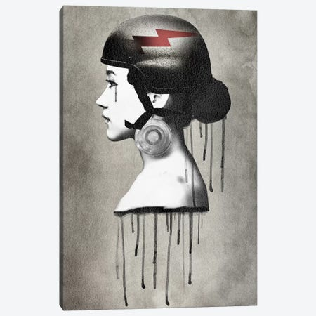 Army Queen Bolt Canvas Print #ZEP51} by Vin Zzep Canvas Print
