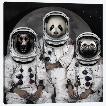 Astro Animals Canvas Print #ZEP52} by Vin Zzep Canvas Print