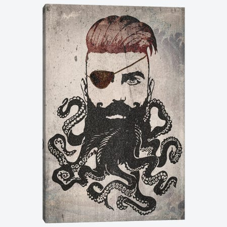 Black Beard Canvas Print #ZEP56} by Vin Zzep Canvas Wall Art