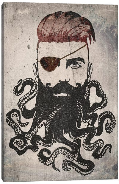 Black Beard Canvas Art Print
