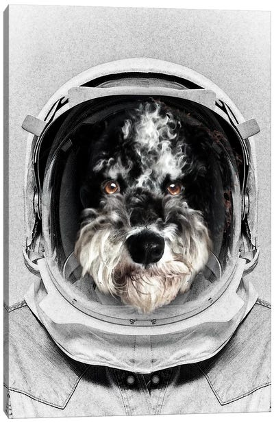 Buster Astro Dog Canvas Art Print