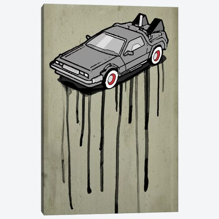 DeLorean Canvas Print #ZEP65} by Vin Zzep Canvas Print