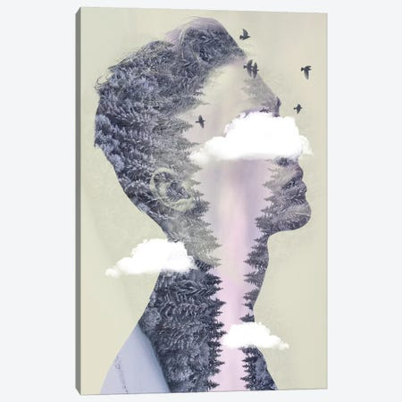 Double Exposure Hair III Canvas Print #ZEP68} by Vin Zzep Canvas Wall Art