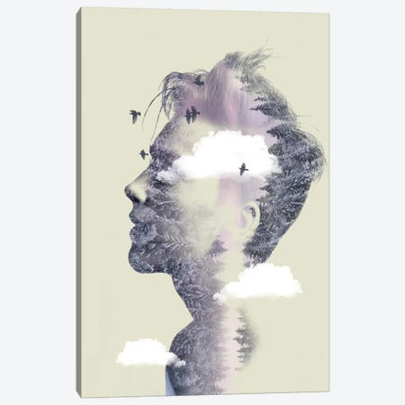 Double Exposure Hair IV Canvas Print #ZEP69} by Vin Zzep Canvas Artwork