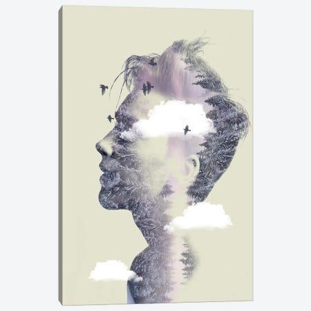 Double Exposure Hair IV 3-Piece Canvas #ZEP69} by Vin Zzep Canvas Artwork