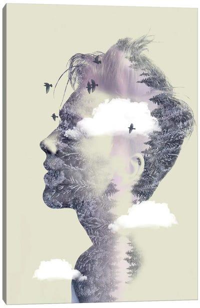Double Exposure Hair IV Canvas Art Print