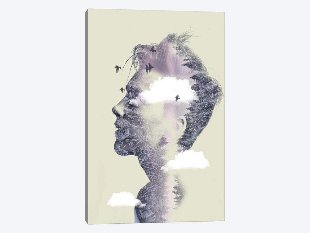 Double Exposure Hair IV by Vin Zzep 1-piece Canvas Art