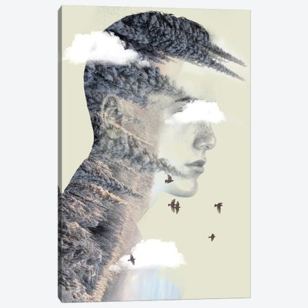 Double Exposure Hair V Canvas Print #ZEP70} by Vin Zzep Canvas Print