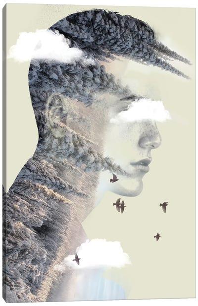 Double Exposure Hair V Canvas Art Print