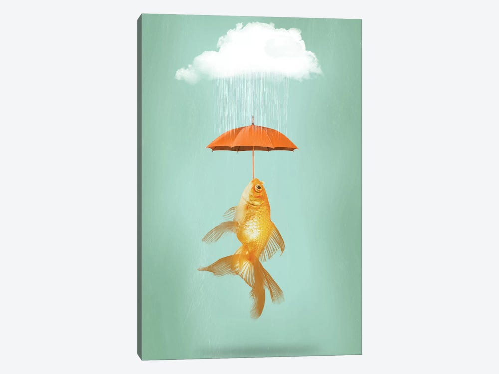 Fish Cover by Vin Zzep 1-piece Canvas Wall Art