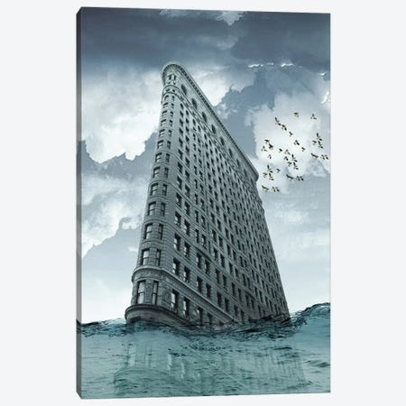 Flatiron Under Water Canvas Print #ZEP74} by Vin Zzep Canvas Artwork