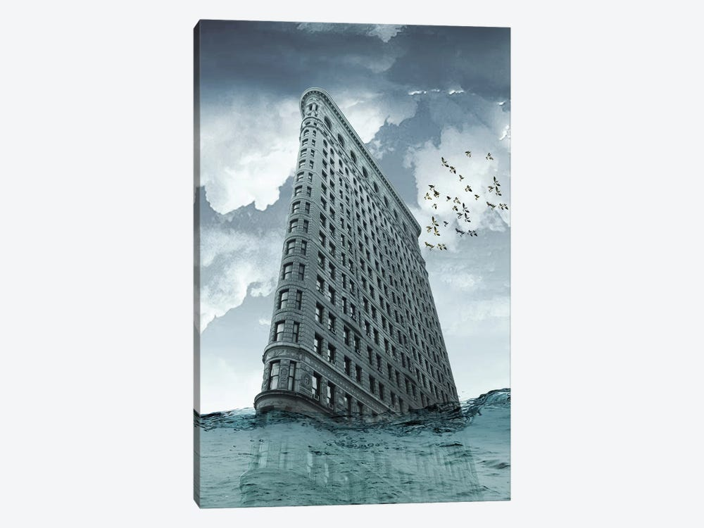Flatiron Under Water by Vin Zzep 1-piece Canvas Wall Art