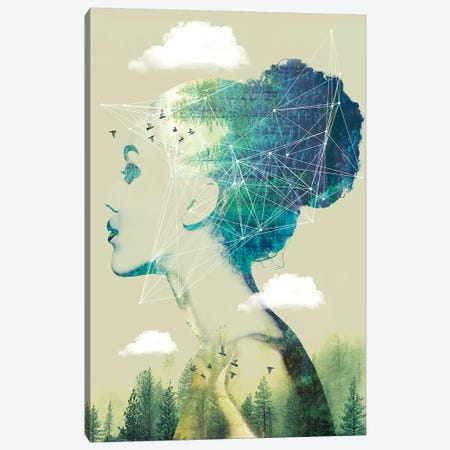 Geo Forest Canvas Print #ZEP79} by Vin Zzep Canvas Art Print