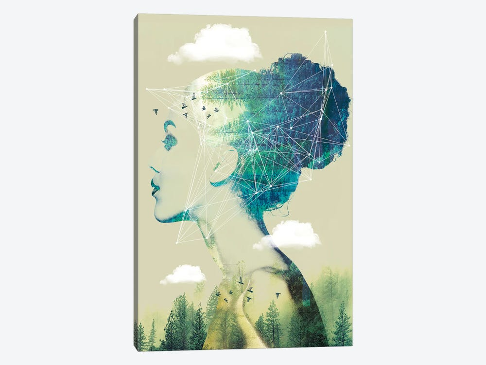 Geo Forest by Vin Zzep 1-piece Canvas Art Print