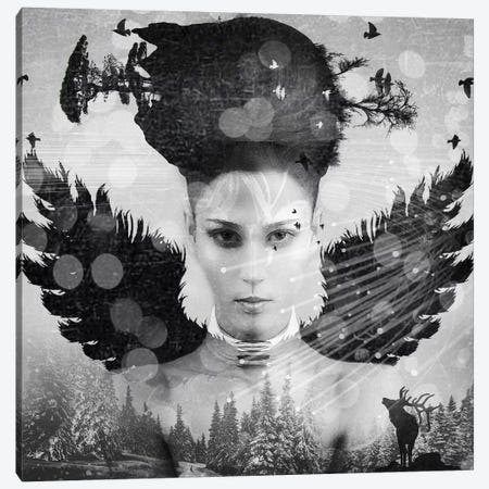 Girl Face II Canvas Print #ZEP80} by Vin Zzep Canvas Wall Art