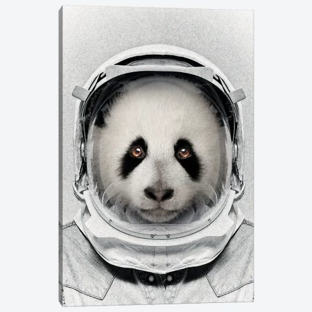 Panda Astro Bear Canvas Print #ZEP92} by Vin Zzep Art Print