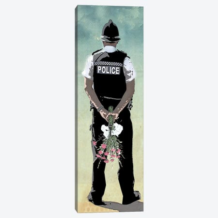 Police Force Love Canvas Print #ZEP94} by Vin Zzep Canvas Artwork