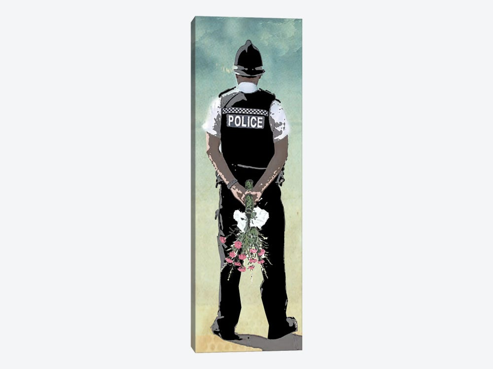 Police Force Love by Vin Zzep 1-piece Canvas Wall Art