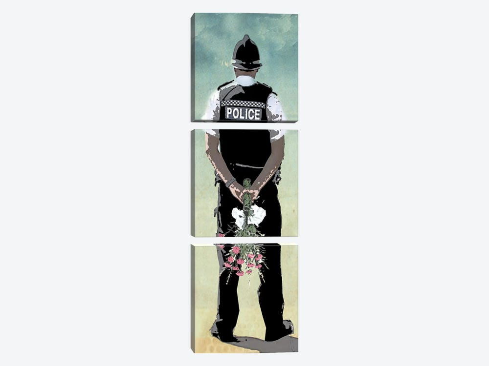 Police Force Love by Vin Zzep 3-piece Canvas Artwork