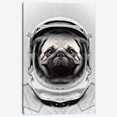 Puggly Pawstrong Astro Dog Canvas Print #ZEP95} by Vin Zzep Canvas Artwork