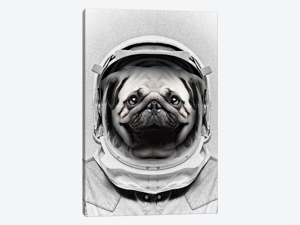 Puggly Pawstrong Astro Dog by Vin Zzep 1-piece Art Print