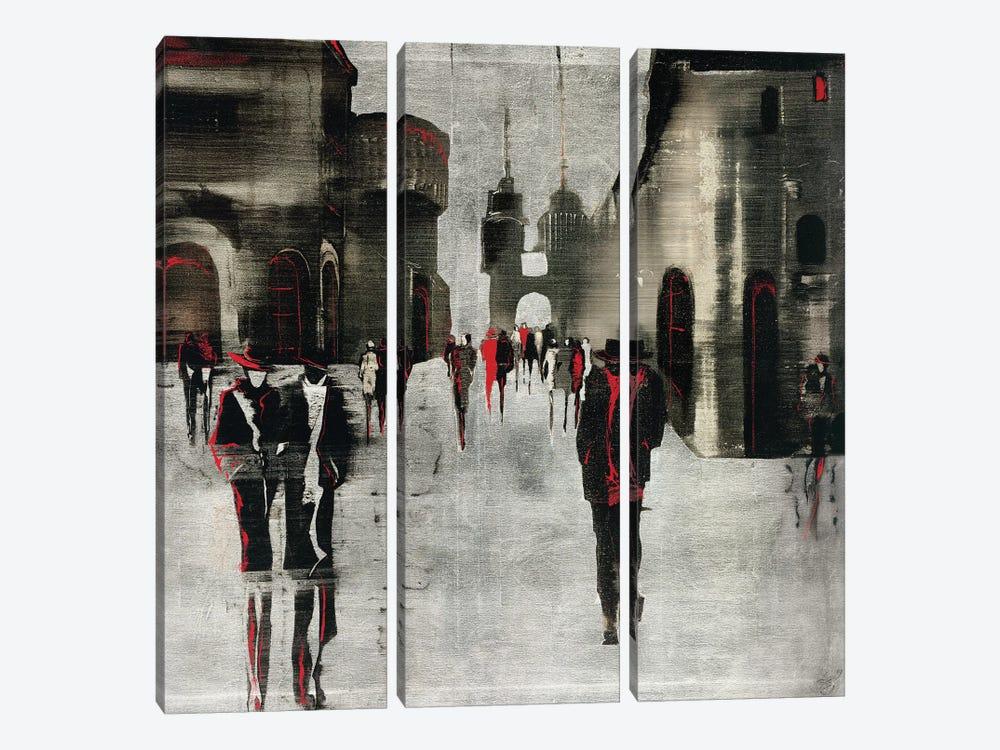City Scene II by Elena Radzetska 3-piece Canvas Artwork